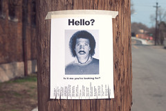 Lionel Richie Hello Flyer (chrisglass) Tags: hello lost flyer lionelrichie