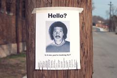 Lionel Richie Hello Flyer (chrisglass) Tags: hello lost flyer lionelrichie