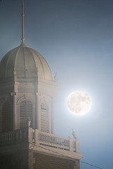 Super moon over First Congregational (heinrick oldhauser) Tags: night fullmoon cupola dome italianate supermoon