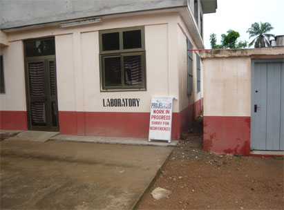 The laboratory unit of the Akuse Government Hospital