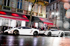 Combo? (Keno Zache) Tags: auto paris france car canon eos rally automotive super racing lp lamborghini luxury gallardo keno wagen sportwagen trofeo superleggera 5704 5604 400d zache supecar