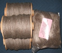 bfl silk bobbins and fiber