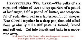 Pennsylvania Tea Cake Recipe from Godey's Lady's Book
