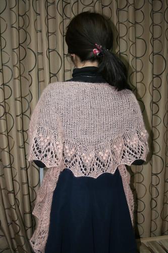 S's pink Shawl