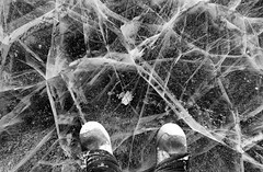 Natures Crossroads (Wolfhorn) Tags: cold ice me alaska boots wilderness cracked airbubbles