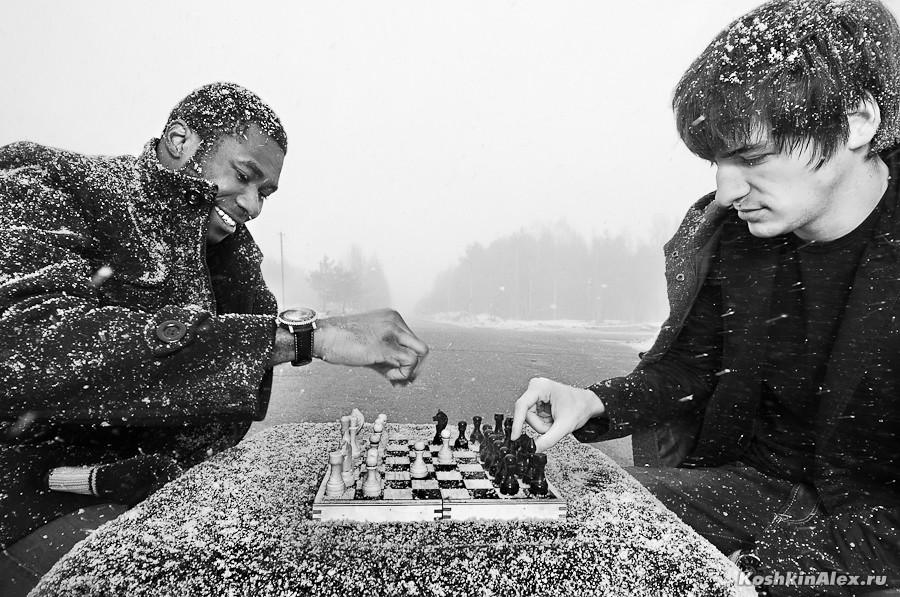 Шахматы под снегом 2516