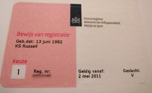 Donor Registry Card