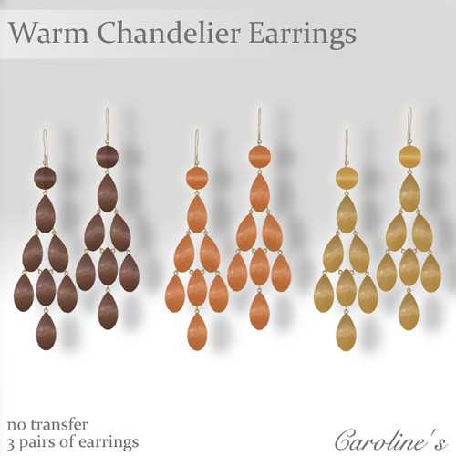 Caroline's Jewelry Chandelier Earrings - Warm