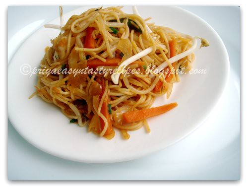 Stir fried Spaghetti (Chinese style)