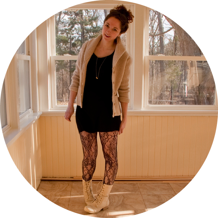 combat boots lace zippers curls lbd cardigan dash dot dotty blog style