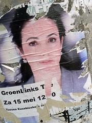 De teloorgang van Groen Links? (Marc Broens) Tags: holland groen arnhem nederland links femke 2010 halsema politiek groenlinks eusebiuskerk femkehalsema aanplakbiljet teloorgang