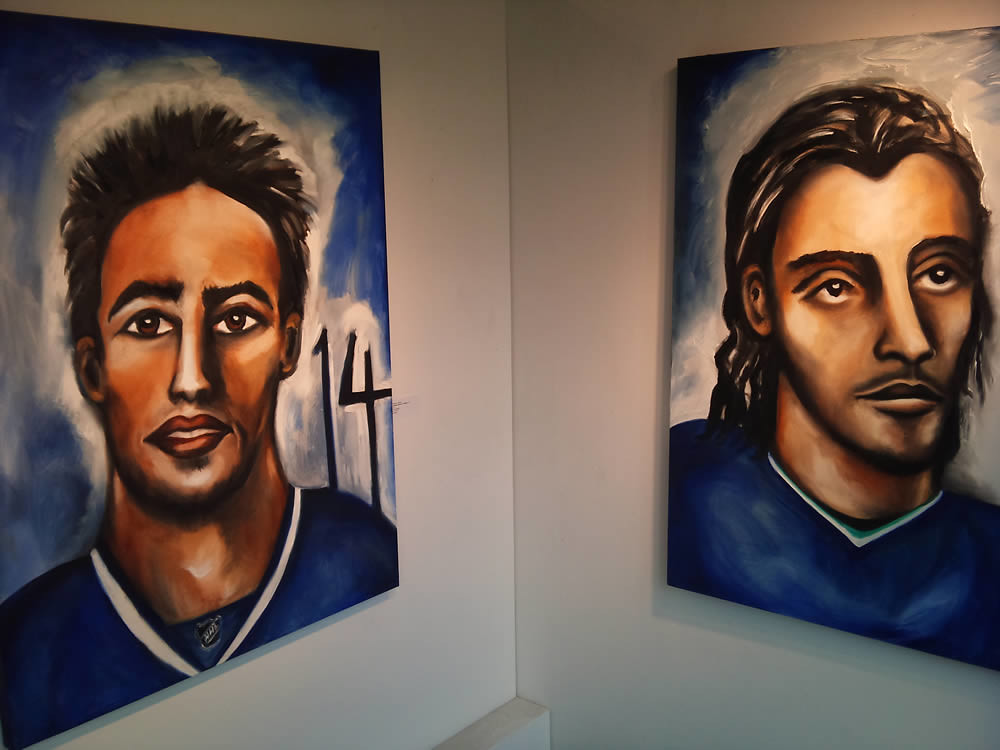Alexandre Burrows Number 14 and Roberto Luongo Number 1