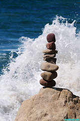 SpringtimeStackSplashII (mcshots) Tags: ocean california travel sea usa nature water coast rocks stock shoreline malibu boulders socal geology splash mcshots springtime beachcombing losangelescounty