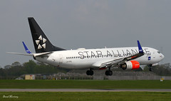 SAS (Star Alliance livery) 737-800 LN-RRL (birrlad) Tags: dublin colour oslo norway airplane star airport 10 aircraft aviation airplanes landing airline boeing arrival airways sas approach airlines scheme runway dub decals airliner 737 titles alliance arriving livery 737800 737883 lnrrl