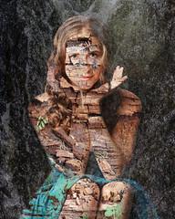 Notice Everything (landbergmary) Tags: marylandberg conceptualphotography fineartphotography compositephotography surreal notice yoga decay trees texture overlay creativephotography