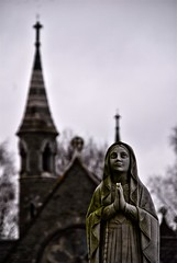 St. Finbarre's Cemetery, Cork, Ireland (mick dunne) Tags: church girl cemetery grave graveyard statue religious catholic little headstone religion pray praying chapel icon steeple gravestone iconography