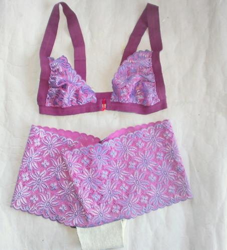 flowers underwear handmade bra lilac stretchlace ingermaaike