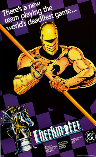 DC Comics promotional poster - Checkmate - 1987