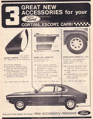 1971 Ford Capri, Cortina & Escort Accessories Ad - Australia