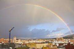 Arco iris (torettoz350.Angel) Tags: sky españa rain arcoiris angel photoshop canon eos lluvia rainbow andalucia amanecer cielo cadiz gibraltar linea 40d mygearandme