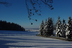 winter wonderland (rafischatz) Tags: winter sun snow ice weather germany landscape village saxony hills pentaxk200d