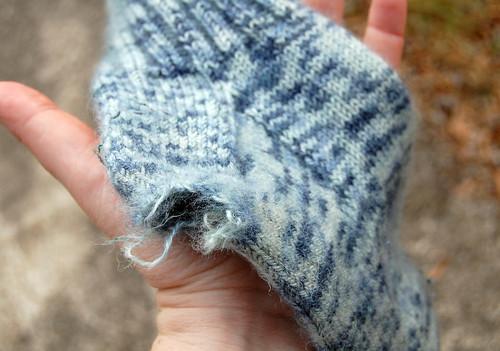 ripped sock heel 1