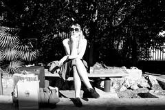 Waiting... (Tuva Moen Holm) Tags: trip blackandwhite italy france me girl sunglasses torino waiting italia meg jeg trainstation reise solbriller togstasjon vente leav svartoghvitt