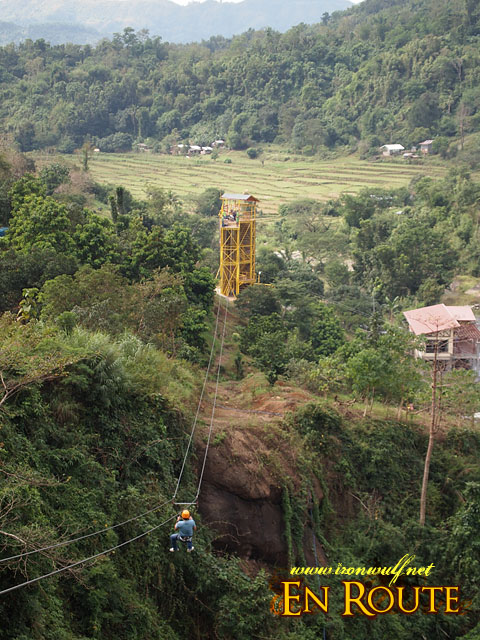 Zipping through line 2 PUGAD's Fastest Zipline