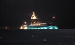 Motor Yacht A (fksr) Tags: california night ship yacht sanfranciscobay russian sausalito andreymelnichenko motoryachta