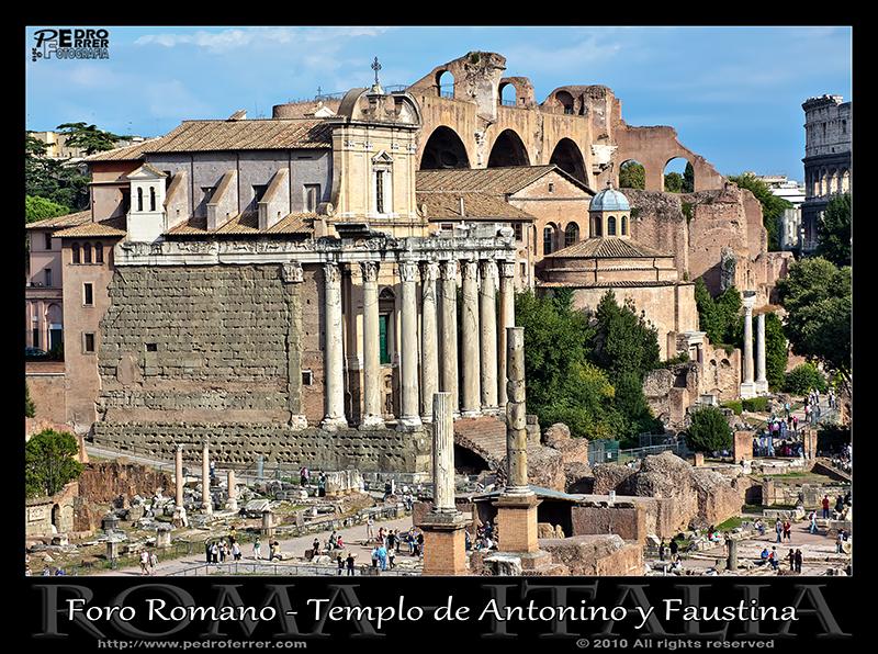 Roma - Foro - Templo Antonino y Faustina