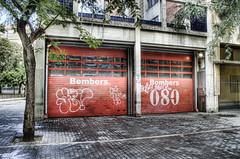 Fire Station Barcelona HDR (gavbc www.gavinhaworthphotography.co.uk) Tags: barcelona lasramblas hdr parkguell photomatixpro canoneos500d topazadjust photoshopelements8