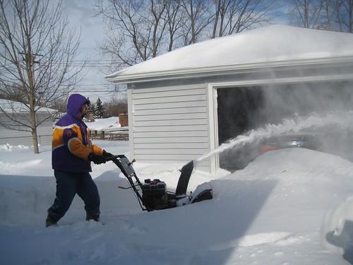 Craig snowblowing
