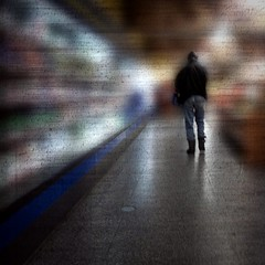 Walking the grocery walk (Anders Uddeskog) Tags: cameraphone iris urban art texture mobile espoo finland phone cellphone mobilephone iphone photofx phoneography iphoneart iphoneography iphone3gs blurfx