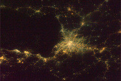 Looks like a spider web. Which Asian capital? (astro_paolo) Tags: nasa iss esa internationalspacestation europeanspaceagency expedition26 magisstra