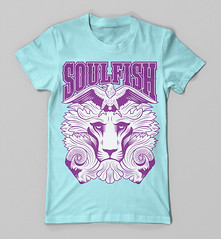 SOULFISH CLOTHING (Victor Ortiz - iconblast.com) Tags: music southamerica nature argentina colors animals illustration design clothing graphics colorful colombia message graphic skateboarding eagle awesome lion goat tshirt surfing fresh victor lamb positive brand tee diseo camiseta medellin sk8 ilustracion apparel suramerica victorortiz soulfish iconblast