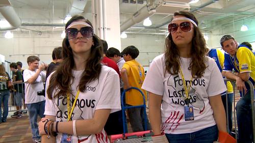Danielle and Elizabeth wait for Battle