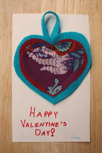 Sewn Valentines Day Cards