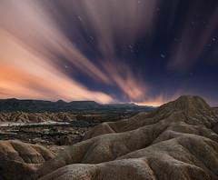 Texturas nocturnas (Bardenas reales de Navarra) (Explore Feb 10, 2011 #145Flat ) (martin zalba) Tags: night stars landscape star noche paisaje estrellas estrella navarra bardenas