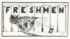 Cartoon for Freshmen Class Page, Butte High School, Butte, MT
