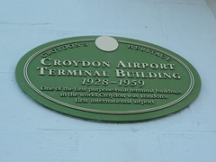 Photo of Croydon Airport green plaque