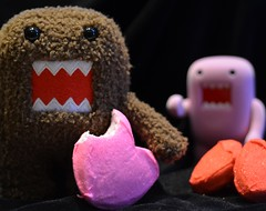 >insert sappy love song here< (kathleen walsh) Tags: pink red toy stuffed nikon valentine plush scream domo 60mm peeps janisjoplin d7000 evilmini