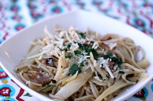 Spicy Spaghetti with Fennel and Herbs