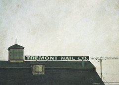 tremont nail co. (lucy.loomis) Tags: old winter signs birds buildings wire massachusetts telephone nail pole company tremont wareham