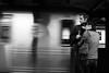 Underground Love (Airicsson) Tags: street new york city nyc summer portrait urban blackandwhite bw usa white ny black brooklyn underground subway island lumix us couple metro walk manhattan panasonic 2010 streetshot lx3