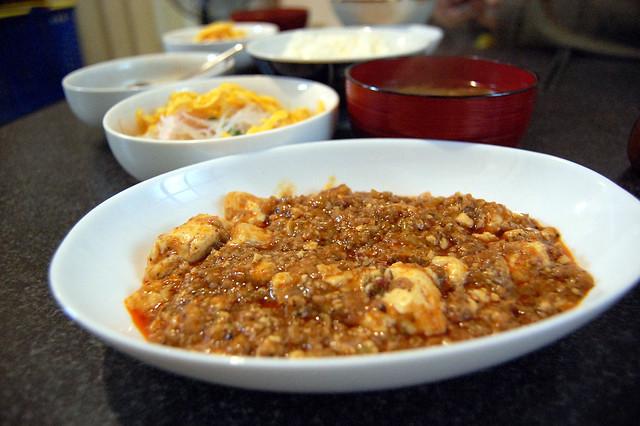 同居人が作ってくれた麻婆豆腐が辛旨! #jisui
