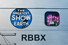 The Greatest Show On Earth (ScottJphoto) Tags: pink window train circus bailey giraffe passenger barnum ringlingbros greatestshowonearth threering