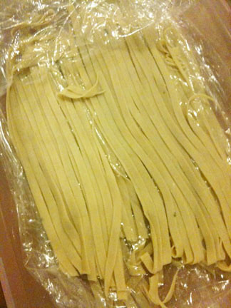 Homemade Lemon Fettuccine