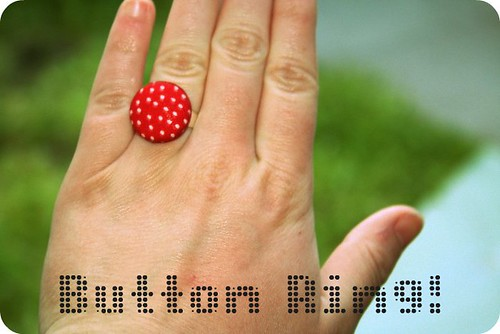Cute as a button Ring