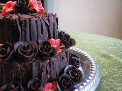 valentine's day cake (cornerstonelae) Tags: wedding roses party cooking cake baking chocolate decorate tier