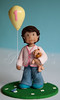Little Reyna (Rouvelee's Creations) Tags: birthday girl balloon polymerclay teddybear caketopper shabbychic rouvelee